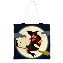 Witch Witchcraft Broomstick Broom Grocery Light Tote Bag
