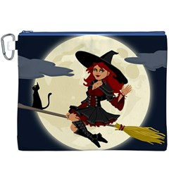Witch Witchcraft Broomstick Broom Canvas Cosmetic Bag (XXXL)