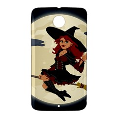 Witch Witchcraft Broomstick Broom Nexus 6 Case (White)