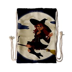 Witch Witchcraft Broomstick Broom Drawstring Bag (Small)