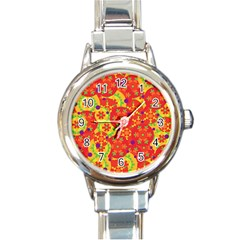 Orange design Round Italian Charm Watch