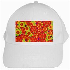 Orange design White Cap