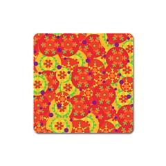 Orange design Square Magnet