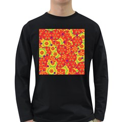 Orange design Long Sleeve Dark T-Shirts