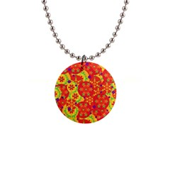 Orange design Button Necklaces