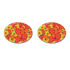 Orange design Cufflinks (Oval)
