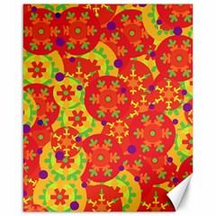 Orange design Canvas 16  x 20