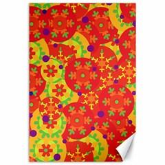 Orange design Canvas 24  x 36