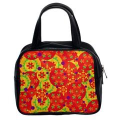 Orange design Classic Handbags (2 Sides)