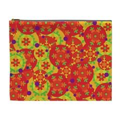Orange design Cosmetic Bag (XL)