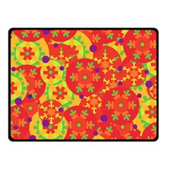 Orange design Fleece Blanket (Small)