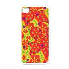 Orange design Apple iPhone 4 Case (White)