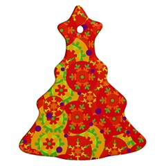 Orange design Ornament (Christmas Tree)