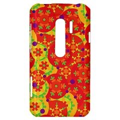 Orange design HTC Evo 3D Hardshell Case