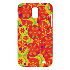 Orange design Samsung Galaxy S II Skyrocket Hardshell Case