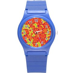 Orange design Round Plastic Sport Watch (S)