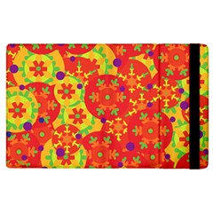 Orange design Apple iPad 3/4 Flip Case