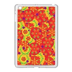 Orange design Apple iPad Mini Case (White)