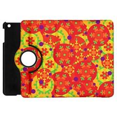 Orange design Apple iPad Mini Flip 360 Case