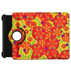 Orange design Kindle Fire HD Flip 360 Case