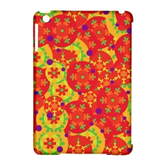 Orange design Apple iPad Mini Hardshell Case (Compatible with Smart Cover)