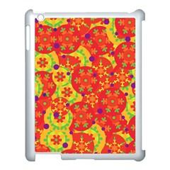 Orange design Apple iPad 3/4 Case (White)