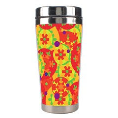 Orange design Stainless Steel Travel Tumblers