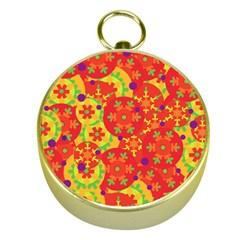 Orange design Gold Compasses