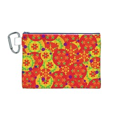 Orange design Canvas Cosmetic Bag (M)
