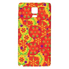 Orange design Galaxy Note 4 Back Case
