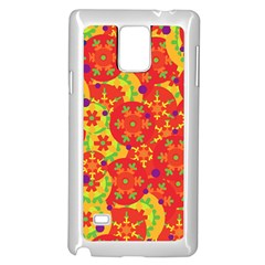 Orange design Samsung Galaxy Note 4 Case (White)