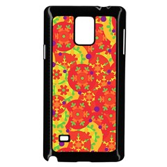 Orange design Samsung Galaxy Note 4 Case (Black)