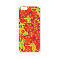 Orange design Apple Seamless iPhone 6/6S Case (Transparent)