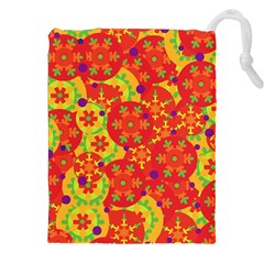 Orange design Drawstring Pouches (XXL)