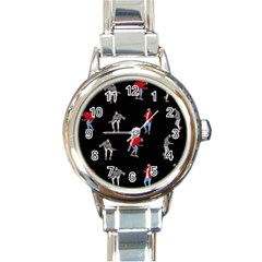 Drake Ugly Holiday Christmas Round Italian Charm Watch