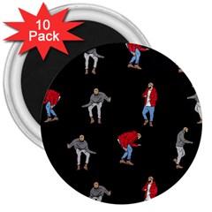 Drake Ugly Holiday Christmas 3  Magnets (10 pack)