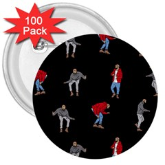 Drake Ugly Holiday Christmas 3  Buttons (100 Pack)