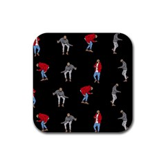 Drake Ugly Holiday Christmas Rubber Coaster (Square)