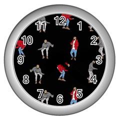 Drake Ugly Holiday Christmas Wall Clocks (Silver)