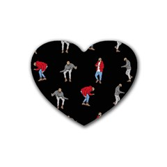 Drake Ugly Holiday Christmas Heart Coaster (4 Pack)