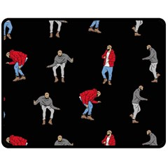 Drake Ugly Holiday Christmas Fleece Blanket (Medium)