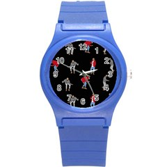 Drake Ugly Holiday Christmas Round Plastic Sport Watch (S)