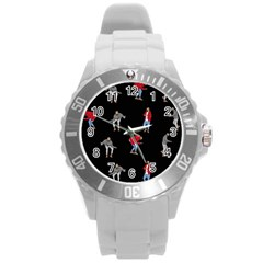 Drake Ugly Holiday Christmas Round Plastic Sport Watch (L)