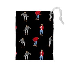 Drake Ugly Holiday Christmas Drawstring Pouches (large)