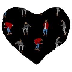 Drake Ugly Holiday Christmas Large 19  Premium Flano Heart Shape Cushions