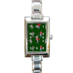 Drake Ugly Holiday Christmas 2 Rectangle Italian Charm Watch