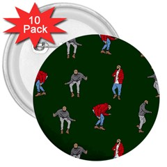 Drake Ugly Holiday Christmas 2 3  Buttons (10 pack)