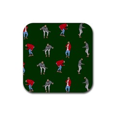 Drake Ugly Holiday Christmas 2 Rubber Square Coaster (4 pack)