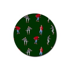 Drake Ugly Holiday Christmas 2 Rubber Round Coaster (4 Pack)