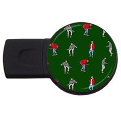 Drake Ugly Holiday Christmas 2 USB Flash Drive Round (2 GB)